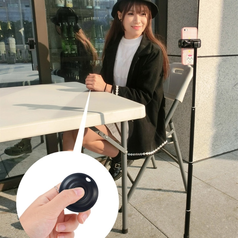 OCDAY Wireless Bluetooth 4.0 Camera Shutter Remote Control Portable Self-Timer for IOS Android Smartphones
