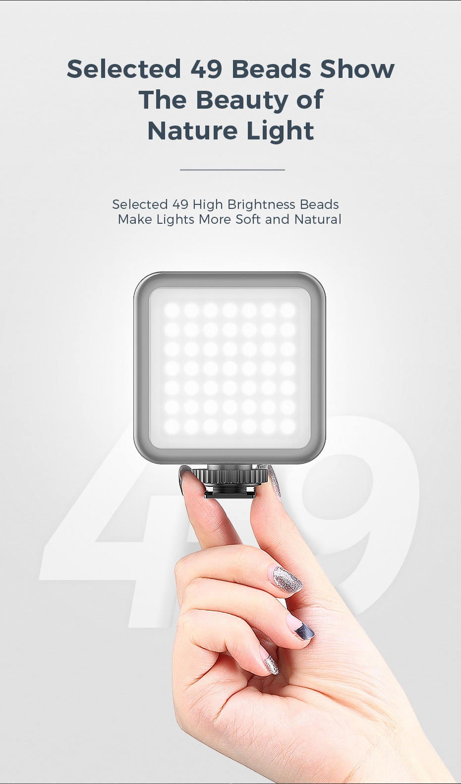 Ulanzi VIJIM V-Light Mini Video LED Fill Light Dimmable Cold Warm Built-in Battery charging mode Flash Bright for Phone Camera