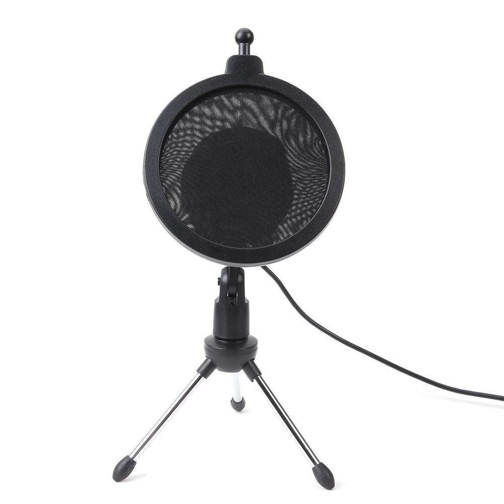For Microphone condenser USB microphone kit Studio microphone, folding stand tripod filter sponge, for PS4 game computer YouTube