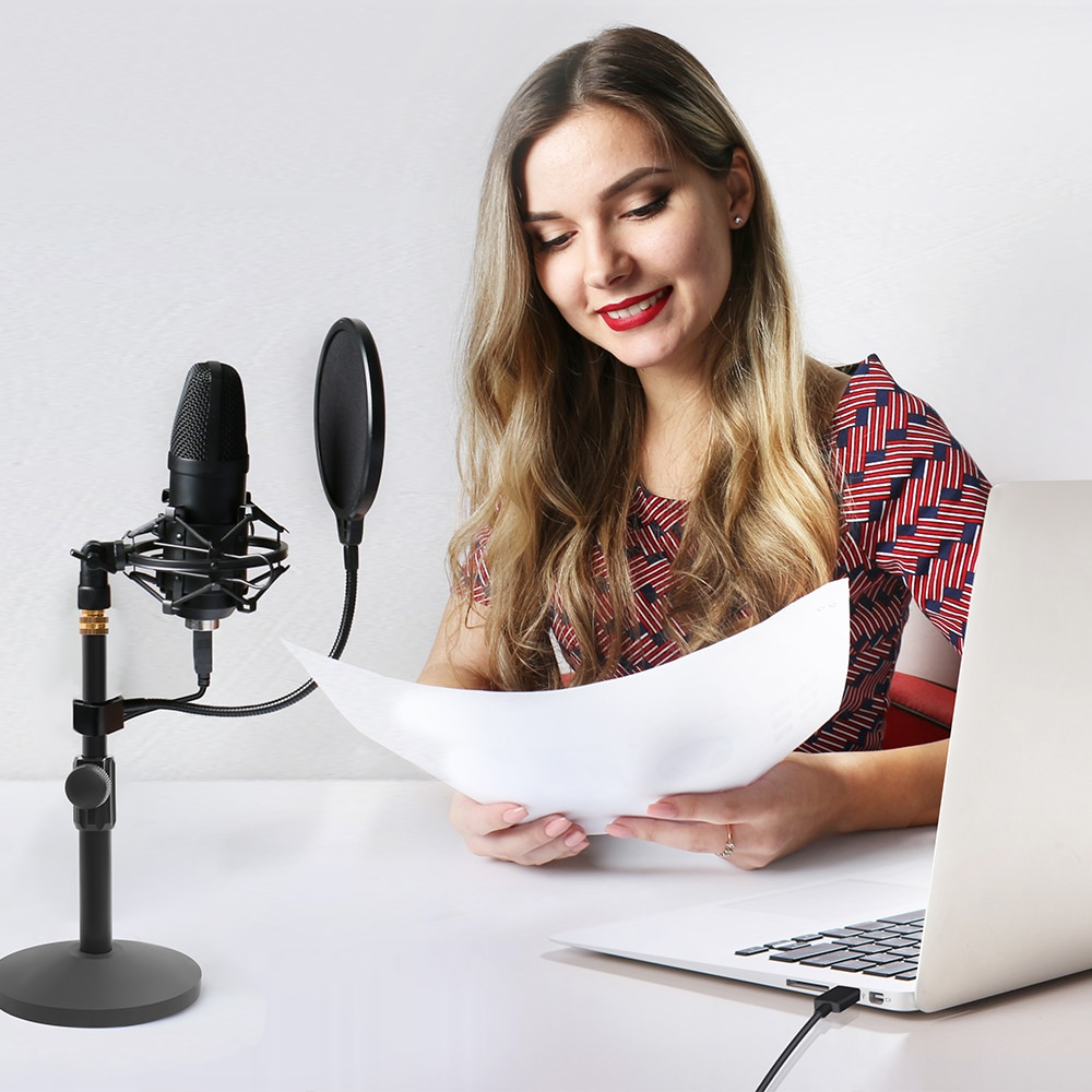 MAONO USB Microphone Kit Professional Podcast Streaming Microphone Condenser Studio Mic for Computer YouTube Gaming Recording