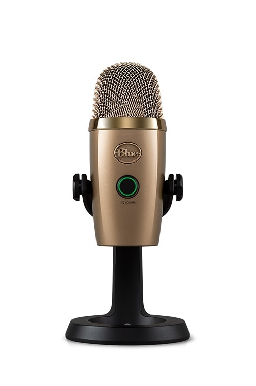 Blue YetiNano snow monster condenser digital USB microphone for podcasting game streaming Skype call YouTube music recording