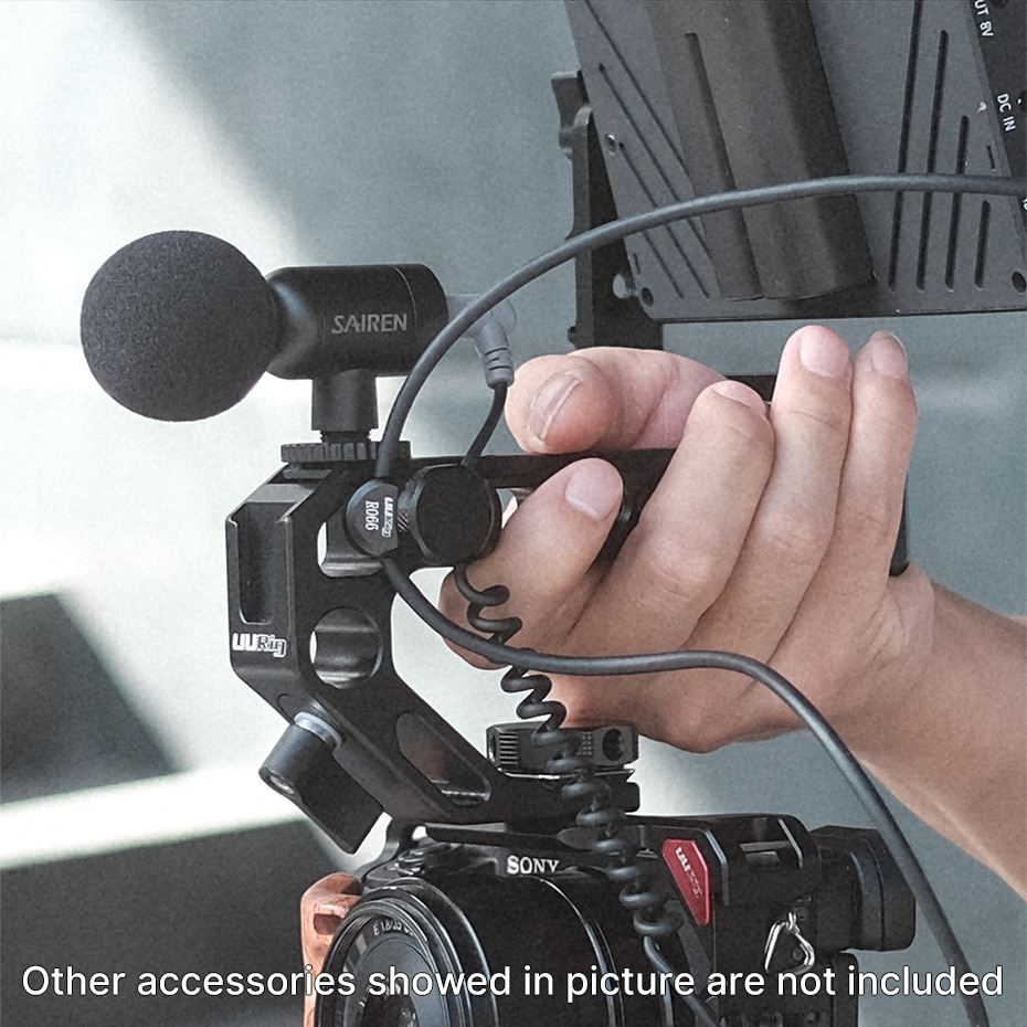 Ulanzi UURig R066 Universal Camera HDMI Cable Clamp Lock Type C Microphone Cable Clip Clamp 1/4 Screw Mount