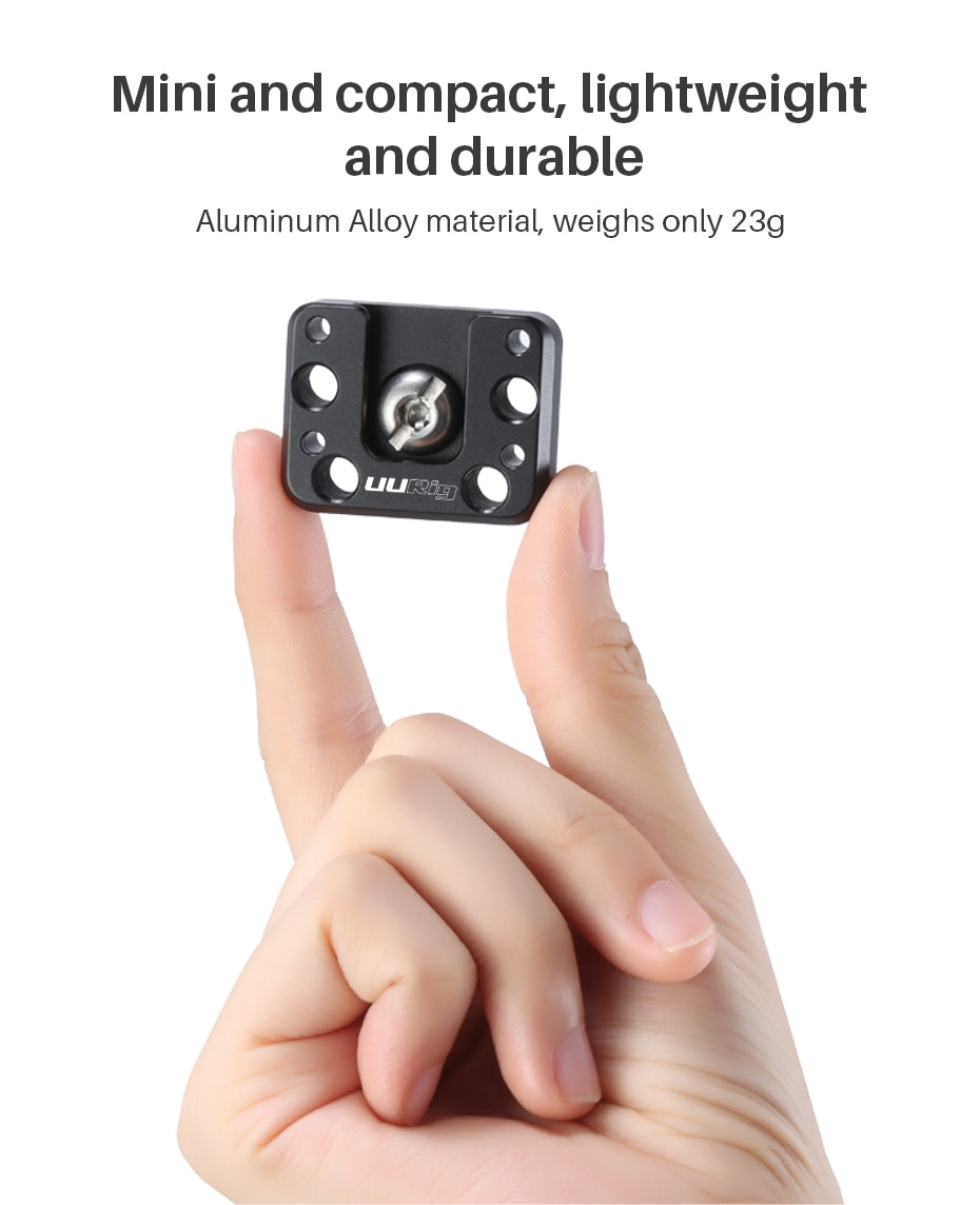 Ulanzi UURig R070 Extend Cold Shoe Mount for Zhiyun Crane 2S Accessories Extend 1/4 Screw for Magic Arm LED Light Microphone