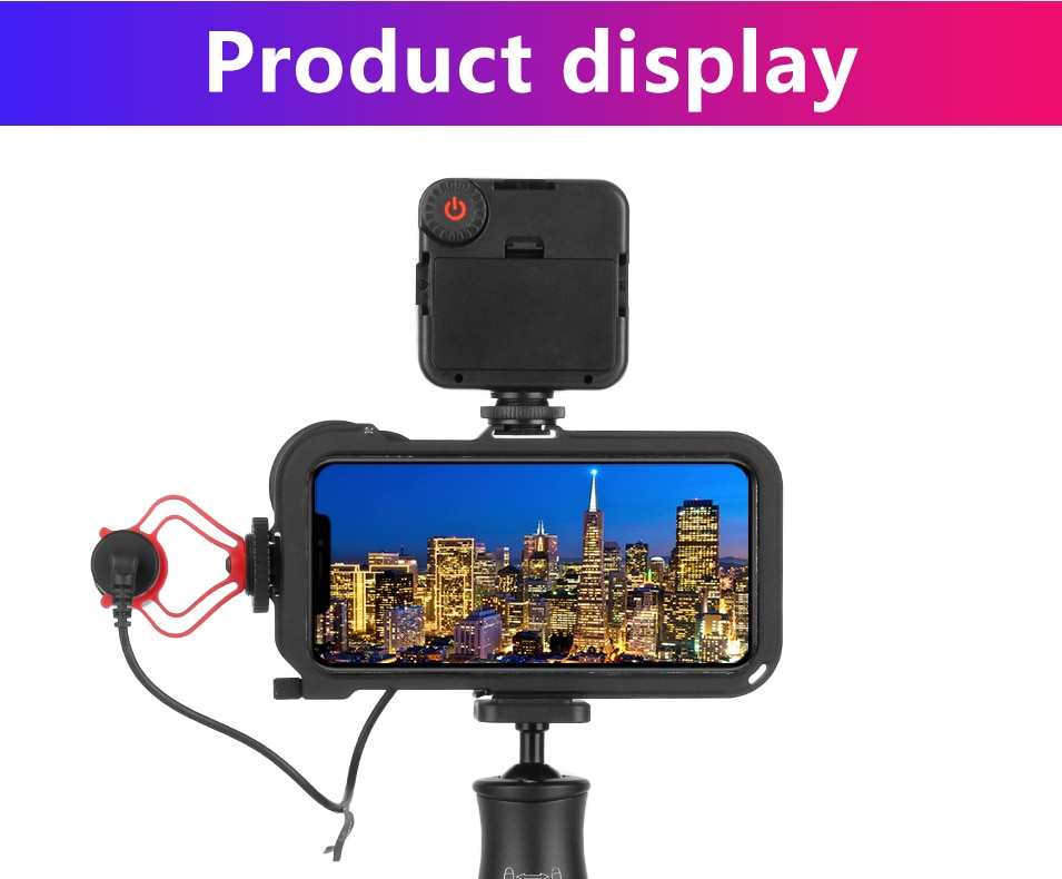 ULANZI Video Camera Filmmaking Rig with 17mm/ Moment Lens Mount for iPhone Xs /Xs Max,Phone Graphy Case Video Cage Tripod Mount