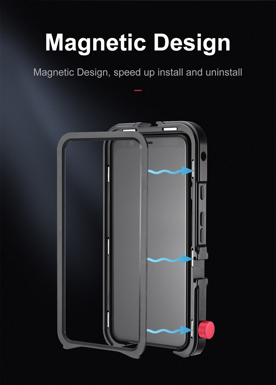 Ulanzi Vlog Metal Cage Case for Pixel 4 XL Extend Cold Shoe for LED Light Microphone Vertical Shooting Case Cover