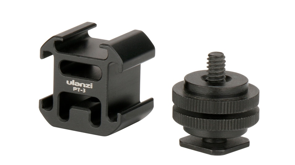 Ulanzi Triple 3 Cold Shoe Mount On Camera Shoe Mount Support BY-MM1 Microphone Video LED Light for DSLR Nikon Canon