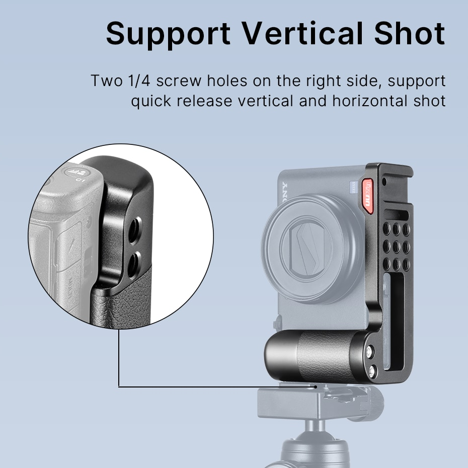 Ulanzi UUrig R055 L Plate Metal Bracket for Sony ZV1 Extend Cold Shoe for LED Light Microphone Sony ZV1 Accessories
