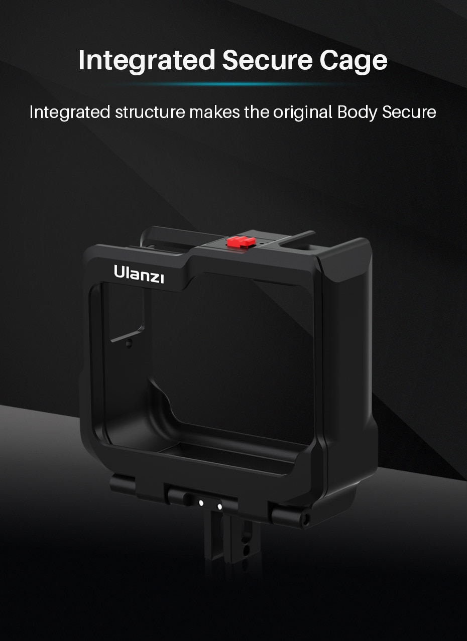 Ulanzi Insta360 One R Plus Metal Cage Case Frame Protective Vlog Case Insta360 One R Plus Accessories