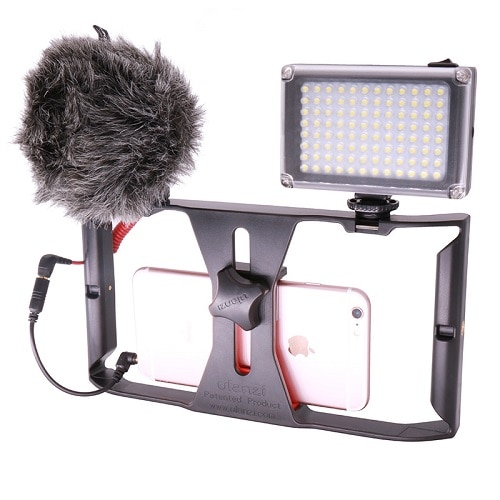 Ulanzi Ultra Bright 49 LED Video Light with 3 Hot Shoe Dimmable Portable High Power Panel Video Light for Canon Nikon Smartphone