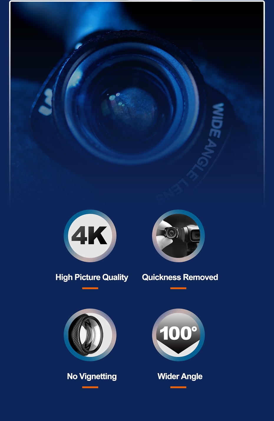 Ulanzi 1.33X Anamorphic Lens for Osmo Pocket Wide Angle Lens Filmmaking Lens Magnetic Structure HD Gimbal Accessories